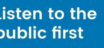 Listen to the public first